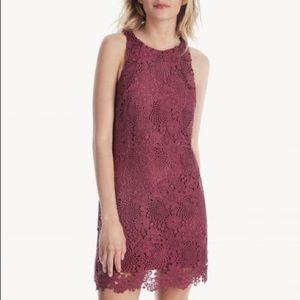 Wayf Maroon Lace Dress